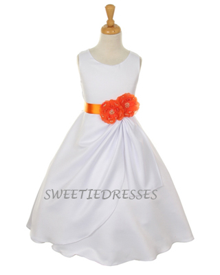 Elegant sleeveless flower girl dress