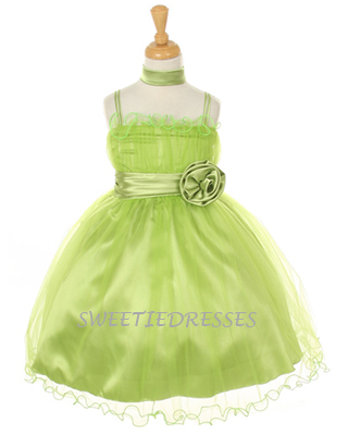 Organza tiered ruffle tulle dress