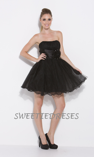 Cute Tulle Flower Short Dress Homecoming Dresses