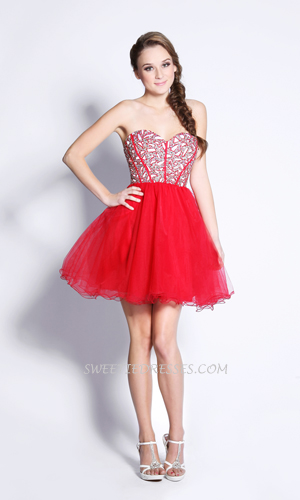 Cute beeded corset tulle dress