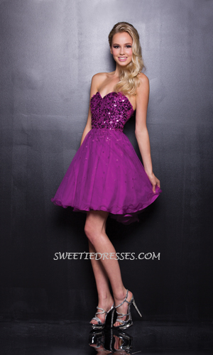 Pretty beeded tulle dress