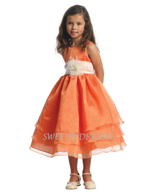 3Layered Organza Flower Girl Dress