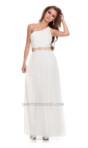 One shoulder goddess long dress - Prom Dresses