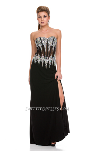 Sparkly sweet heart long dress