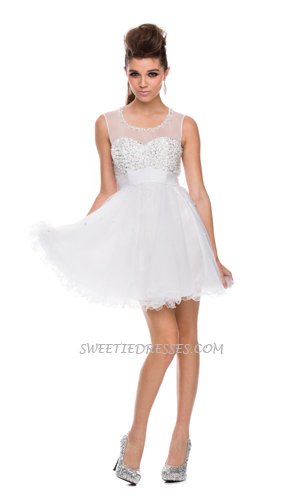 Sparkle lace sweet heart short dress
