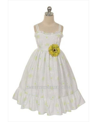 Casual daisy girls' sundress