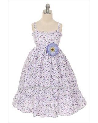 Floral casual girls' sundress