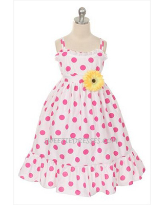 Polka dot casual girl's sundress