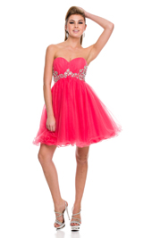 Sweet heart corset tulle short dress