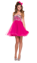 Sweet heart jeweled short dress