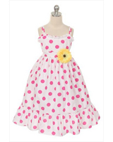 Polka dot casual girl\'s sundress