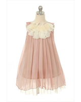 Lovely chiffon floral lace girl dress