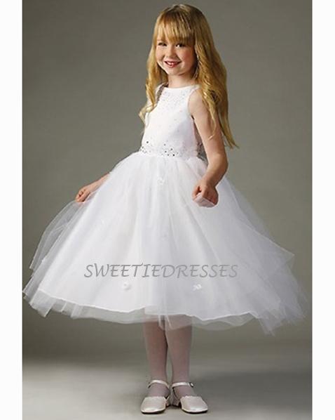 cc7c649b713 Rhinestones Beaded Tulle Skirt Flower Girl Dress - Flower Girl Dresses
