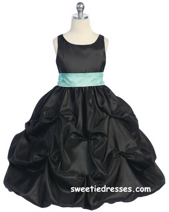 Noble Taffeta Pick-Up Girl Dress - Flower Girl Dresses